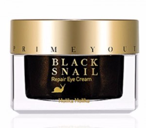 HOLIKA Prime Youth Black Snail Repair Eye Cream - krem pod oczy ze śluzem czarnego ślimaka