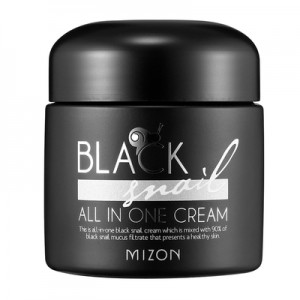 MIZON Black Snail All-in-One Cream - krem to twarzy ze śluzem ślimaka